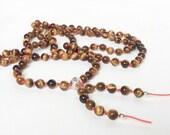 Tiger Eye Mala Beads Mala Necklace 108 Meditation Prayer Beads Tassel Boho Jewelry Long Bead Necklace - Yoga Jewelry Protection