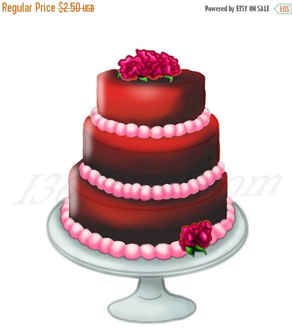 50% OFF SALE Chocolate Cake Clipart, food clip art ...