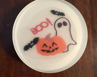 Boo soap- Halloween soap, Halloween gift, guest soap, coworker gift, fall soap, vegan,