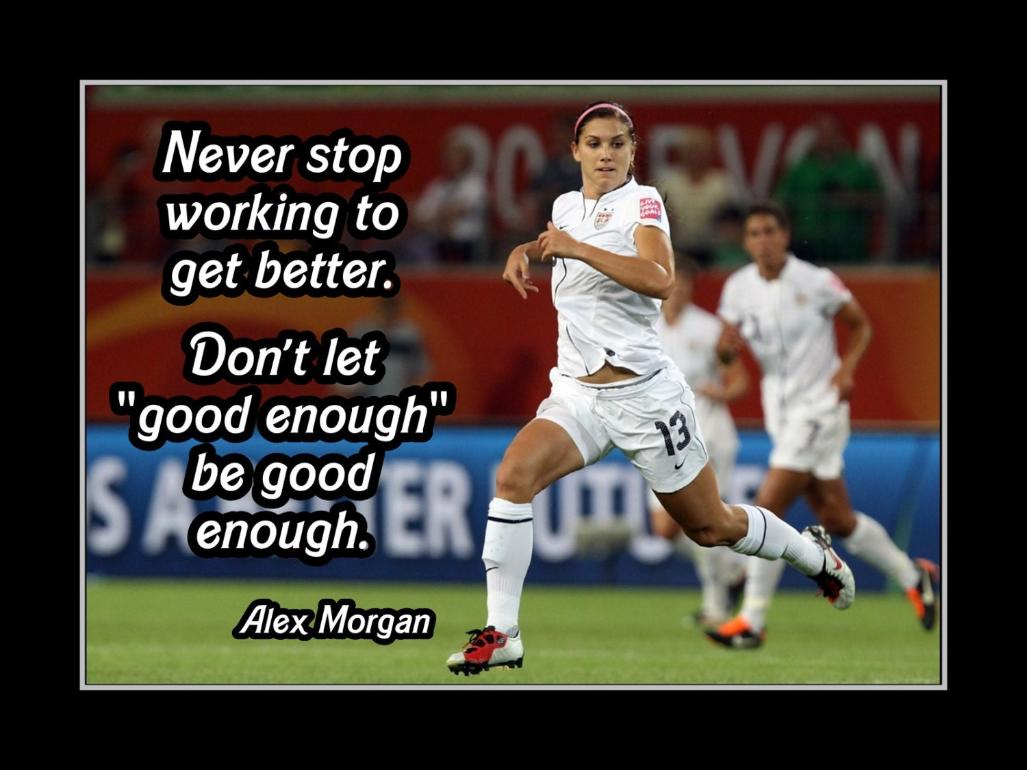 alex morgan filles football poster de motivation citation