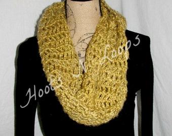 Crochet Mesh Infinity Scarf