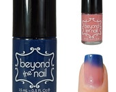 Blue to Nude Thermal Color Change Nail Polish
