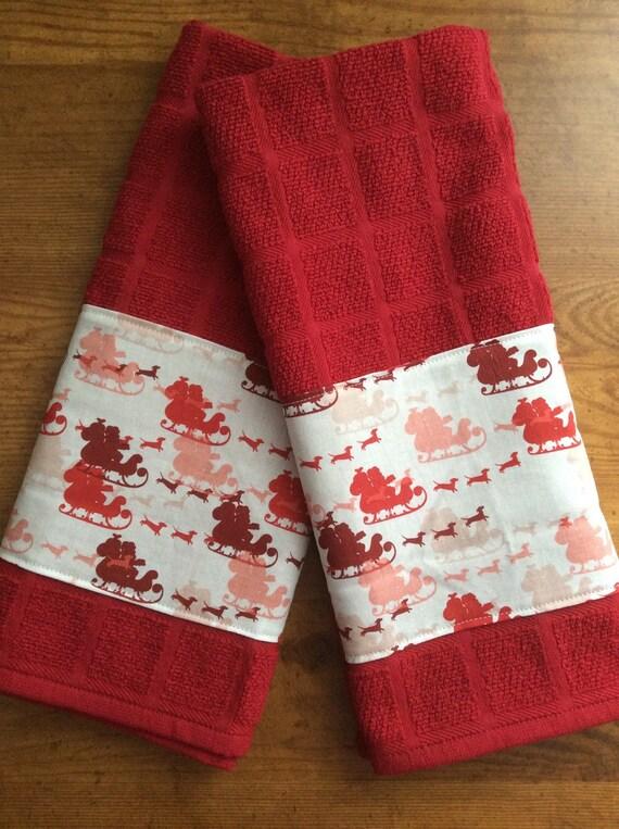 Dachshund Christmas kitchen towels dog kitchen towels