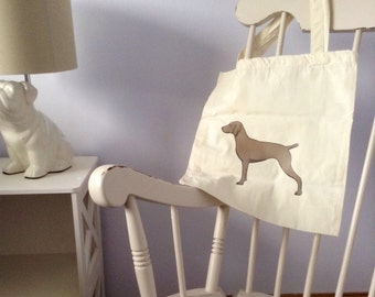 Weimaraner Cotton Tote Bag