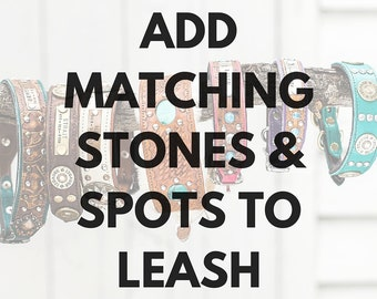 Add Matching Stones and Spots to Leash