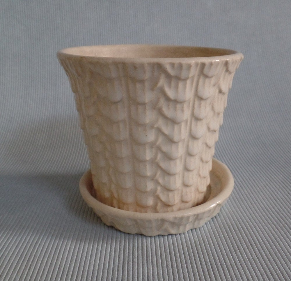 Vintage Nelson McCoy Flower Pot With Saucer/ Under Plate