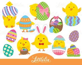 Easter chicks clipart - Easter clipart - 16011