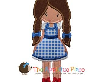 Dorothy - Wizard of Oz - Machine Embroidery Applique Design