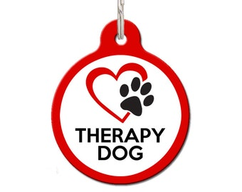 Therapy Dog Dog ID Tag | FREE Personalization