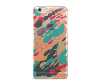 iPhone 6 case, iPhone case, iPhone 6s case, iPhone 7 case clear, iPhone 6s case clear, iphone 6 clear case, clear iPhone 7 case - watercolor