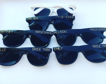 Bachelorette Sunglasses, Sunglasses, Bridesmaid Sunglasses, Bachelorette Party, Custom, Personalized, Party Favors, Team Bride, Bride Tribe