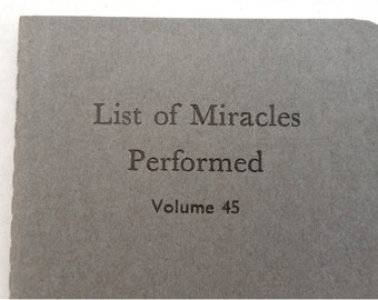 Miracles Performed - Funny Notebook, Letterpress Jotter, Journal