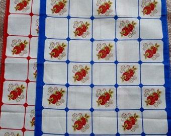 Sweet Strawberry pair teatowels - FREE POSTAGE