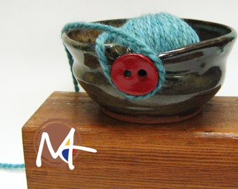 Knit and Button Bowl