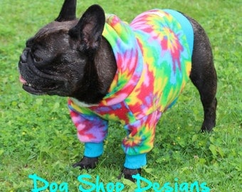 Tiedye Print Fleece Hoodie- only 1 available