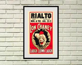 "Reprint of a Vintage Film Poster - ""Laugh, Clown, Laugh"" Starring Lon Chaney"