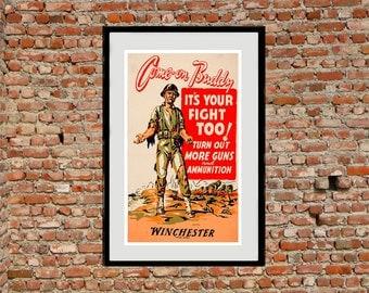 Reprint of a Allied WW1 Propaganda Poster