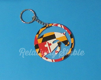 Maryland equestrian key ring, hunter jumper key ring, Relatively Stable exclusive!