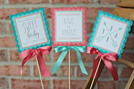 Bows Or Arrows Gender Reveal Decorations