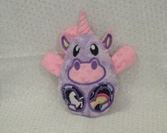 Unicorn Stuffed Toy/ Stocking Stuffer/ Stuffed Animal/ Plushie/ Unicorn Softie/ Unicorn Peekaboo/ Reversible/ Peekaboo Unicorn