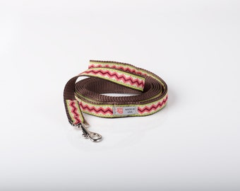 Fashion Designer Dog leash Coral