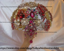 ramo de novia broches, broach bouquet, bouquet de fleur, brosche bouquet,gem bouquet,bling bouquet,crystal bouquet, bouquet ready to ship