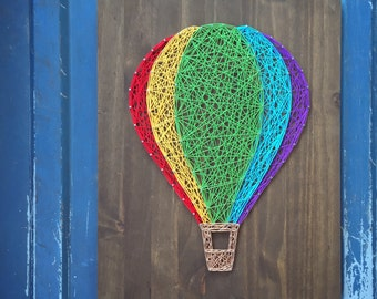 MADE TO ORDER String Art Hot Air Balloon Sign