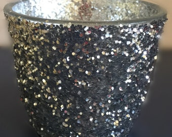 Glitter Candle Vases/Votive/Tea Light/Weddings/Parties - 50