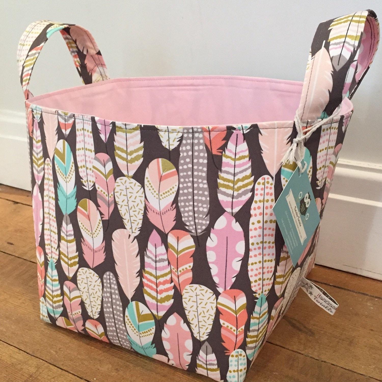 Fabric Storage Baskets Nappy Storage Diaper Caddy Toy