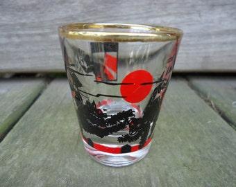 Federal Glass - Black Cat Shot Glass