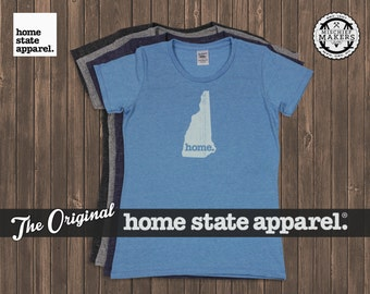 New Hampshire Home. T-shirt- Womens Cut
