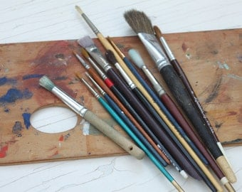 Vintage Lot of Paint Brushes / Artist Brushes