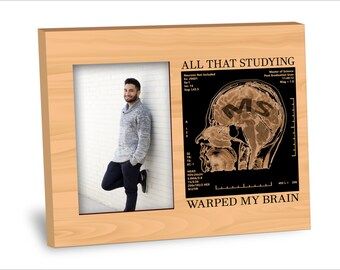 Gaduation Picture Frame - MS Degree Picture Frame  - Personalization Available - 8x10 Frame - 4x6 Picture