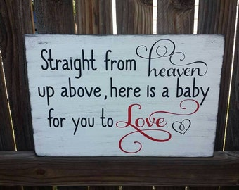 Straight from heaven up above-Dumbo wood sign