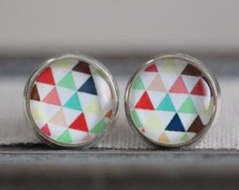 Earring studs, geometric earrings, earrings, gifts, wedding, jewelry
