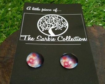 Nebula space earring studs