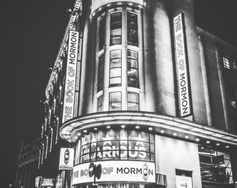 London Photography, London, England, UK, The Book of Mormon, theatre, London wall art, London decor, London Prince of Wales theatre photo