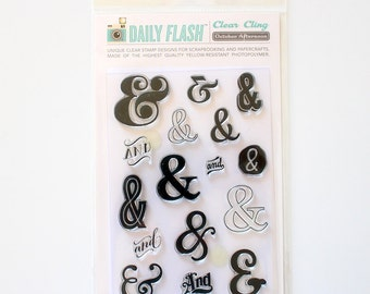 CLEARANCE! October Afternoon Clear Stamps Daily Flash & Then