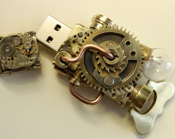 Steampunk USB 16 Gb Flash Drive