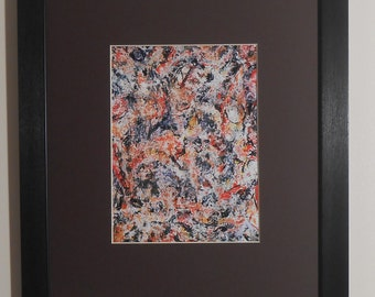 """Mounted and Framed - Untitled by Jackson Pollock - 14"""" x 11"""""""