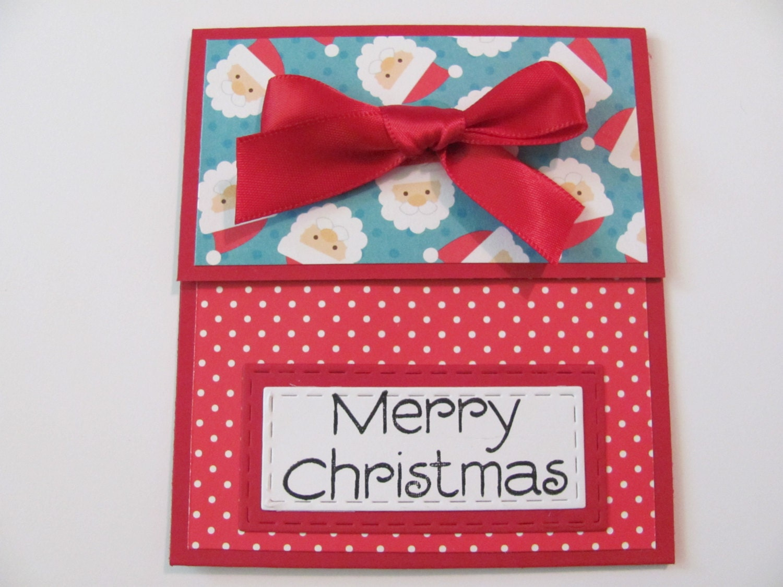 Merry Christmas Gift Card Holder Santa Gift Cardchristmas