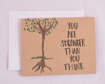 Unique Encouragement Card -  Tree Encouragement Card