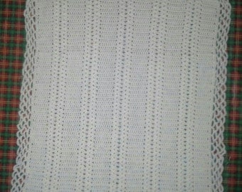 Baby blanket / afghan with soft white shells