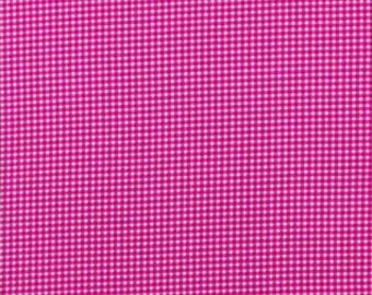 Michael Miller Fabrics - Tiny Gingham Fucshia - CX4834-FUSC-D