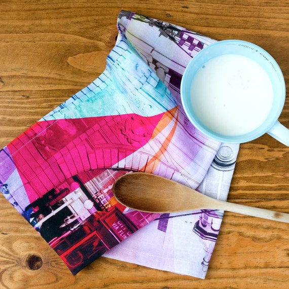 Tea Towels Printed For Schools: Melbourne Digitally Printed Tea Towel By SqueakDesign On Etsy