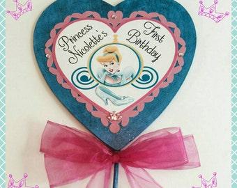 Cinderella Centerpeice, Cinderella Wand, Cinderella Birthday Party, Princess Wand, Princess Party Centerpeice, Photo Prop