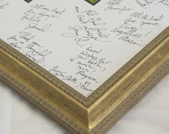 Signature Mat  WITH Frame. Silver, Gold, White and Black. Personalized for your wedding or event