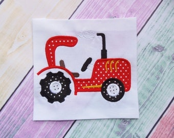 Tractor Applique Design. Farming vehicles machine embroidery design. Boys applique design. Instant dowload embroidery file. Tractor 3 sizes.