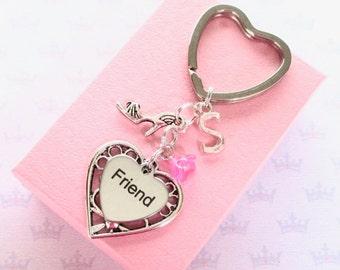 Shoe keyring - Personalised friend keychain - High heeled Shoe keychain - Shoe lover gift for friend - Stocking stuffer - Friend Gift - UK