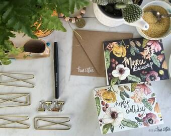 Merci Beaucoup - Happy Birthday NOTECARDS   |  8 cards & envelopes
